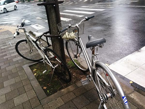 自転車停めてみた